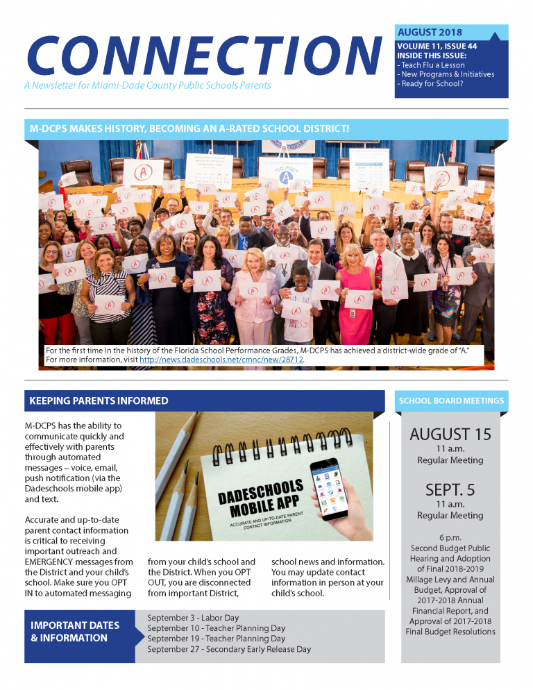 Connection Newsletter - August 2018